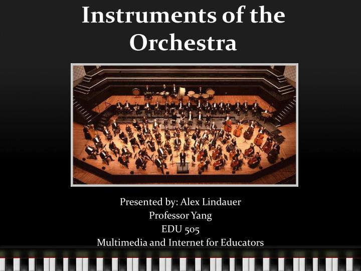instruments of the orchestra n.