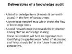 deliverables of a knowledge audit2