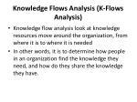 knowledge flows analysis k flows analysis