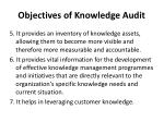 objectives of knowledge audit2