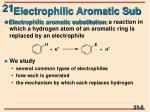 electrophilic aromatic sub