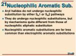 nucleophilic aromatic sub