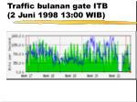 traffic bulanan gate itb 2 juni 1998 13 00 wib