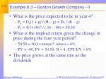 example 8 3 gordon growth company ii