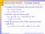 nonconstant growth example solution