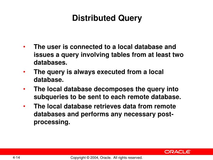 Distributed Query