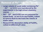 removal of pb 2 zn 2 cr vi