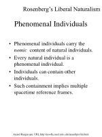 phenomenal individuals