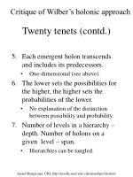 twenty tenets contd