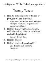 twenty tenets