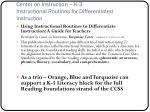 center on instruction k 3 instructional routines for differentiated instruction