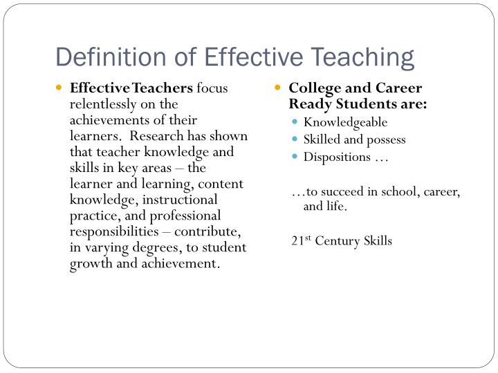 Definition of Effective Teaching