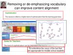 removing or de emphasizing vocabulary can improve content alignment