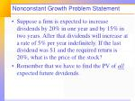 nonconstant growth problem statement