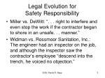legal evolution for safety responsibility