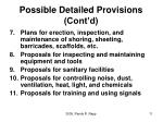 possible detailed provisions cont d