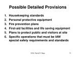 possible detailed provisions