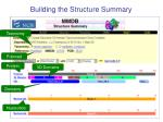 building the structure summary