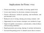 implications for firms ves