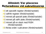 allm nt var placeras returadress vid subrutinanrop