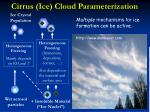 cirrus ice cloud parameterization
