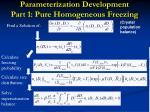 parameterization development part 1 pure homogeneous freezing5