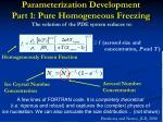 parameterization development part 1 pure homogeneous freezing7