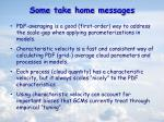 some take home messages