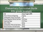 elementary curriculum guide 4th grade example