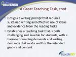 a great teaching task cont