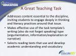 a great teaching task