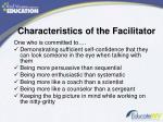 characteristics of the facilitator1