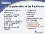 competencies of the facilitator