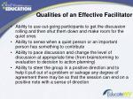 qualities of an effective facilitator1