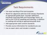 task requirements