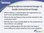 using evidence centered design to guide instructional design