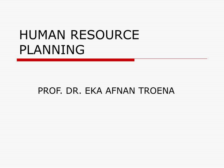 human resource planning n.