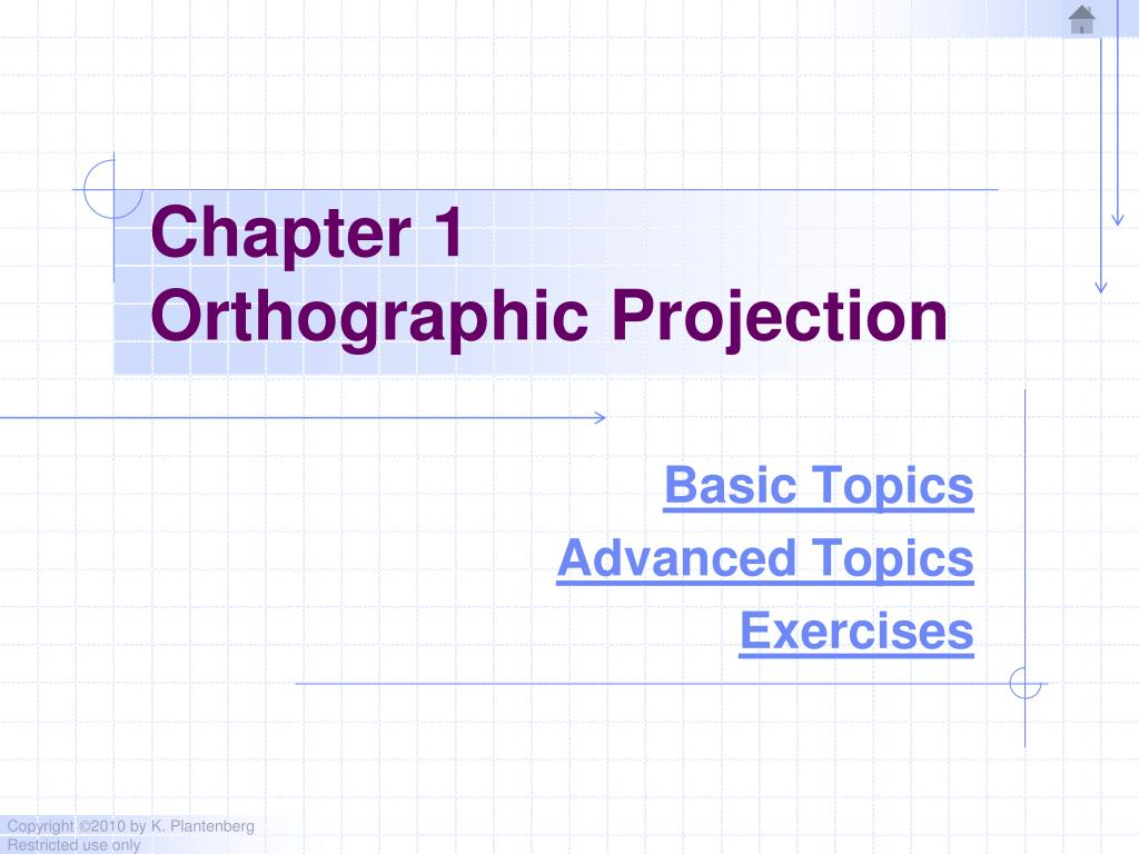 PPT - Chapter 1 Orthographic Projection PowerPoint