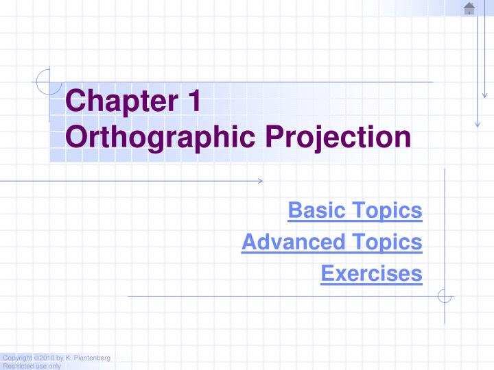 chapter 1 orthographic projection n.