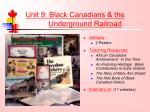 unit 9 black canadians the underground railroad