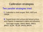 calibration strategies