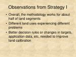 observations from strategy i