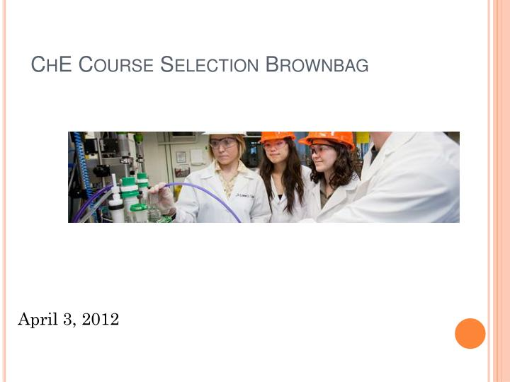 che course selection brownbag n.