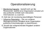 operationalisierung