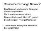 ressource exchange network