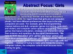 abstract focus girls