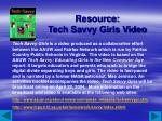 resource tech savvy girls video