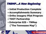 tnbmp a new beginning