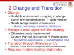 2 change and transition
