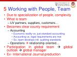5 working with people team